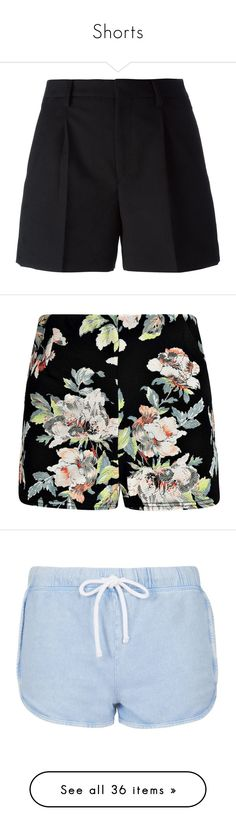 Shorts by papersteph on Polyvore featuring polyvore, women's fashion, clothing, shorts, bottoms, short, pants, black, short shorts, wool shorts, pocket shorts, pleated shorts, yves saint laurent, high rise shorts, floral shorts, high waisted shorts, floral print high waisted shorts, floral printed shorts, topshop, acid blue, woven shorts, blue shorts, topshop shorts, cotton shorts, blue cotton shorts, sale, navy high waisted shorts, high-rise shorts, denim shorts, bleach, high-waisted denim…