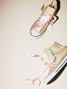 A pair of classic sneakers just got a ballerina-inspired update, and we're definitely on board. Check them out (and shop them) here.: