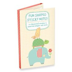 Playful Animals Fun Shaped Sticky Notes