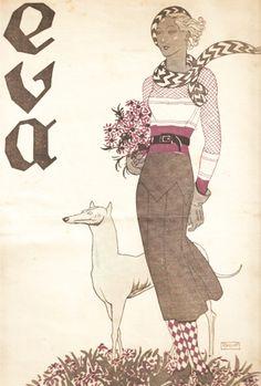Portuguese illustrator Raquel Roque Gameiro, Eva, May 21 1932