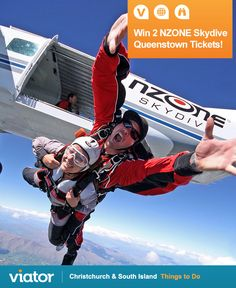 Looking for an ‪#‎adventure‬ in ‪#‎NZ‬? Enter our ‪#‎giveaway‬ for a chance to win 2 NZONE (@nzoneskydive) Skydive tickets in Queenstown!