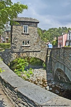 The Bridge House, Ambleside, the Lake District, Cumbria. Built on a bridge to avoid land tax.