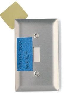 remember paint color by taping the name and number behind your light switch cover! Genius!