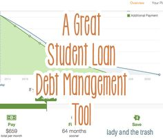 A student loan debt management tool that kicks butt and helps you make a plan. #finance #budget