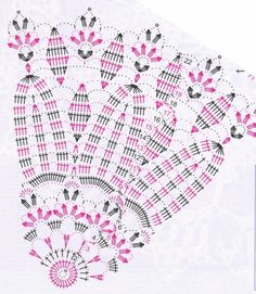 napkins scheme with a decorative leaf pattern Crochet Doily Diagram, Crochet Doily Patterns, Crochet Mandala, Crochet Chart, Thread Crochet, Filet Crochet, Crochet Motif, Crochet Doilies, Knitting Patterns