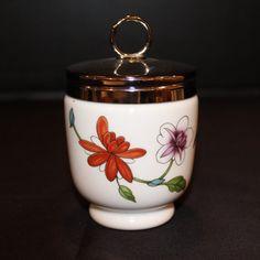 Vintage Royal Worcester Porcelain Egg Coddler, Egg Cup, Made in England, Floral…