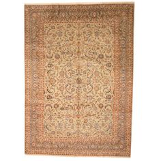 Persian Hand-knotted Antique 1960's Isfahan Khaki/ Olive Wool Rug (10' x 13'11)   Overstock.com Shopping - The Best Deals on 7x9 - 10x14 Rugs
