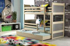 Ricsi 3 (200*90) fenyő emeletes ágy 40 színből választható ! Budapest - kép 1