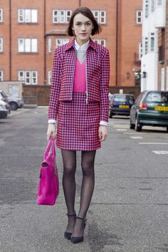 Thinking pink for #LFW day 2