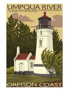 Umpqua River Lighthouse - Oregon #oregon #coast http://www.romantic-oregon-coast.com