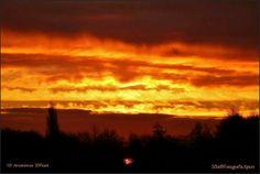 Sunrise 'fire in the sky' Amstelveen Holland Holland, Sunrise, Fire, Clouds, Sky, Celestial, Outdoor, The Nederlands, Heaven