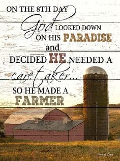 And On The 8th Day God Made A Farmer Framed Art Print Picture