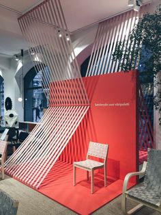 Space design — Studio Finna Stand Design, Booth Design, Alvar Aalto, Office Designs, Exhibition Space, Office Decor, Pop Up, Identity, Reception