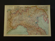 Old map of Italy 1926 vintage German map of by DecorativePrints