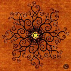 Curly Tree Mandala by CircleArt