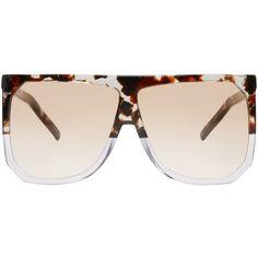 03e8fd88365 Loewe Tortoiseshell Filipa Sunglasses ( 425) ❤ liked on Polyvore featuring  accessories