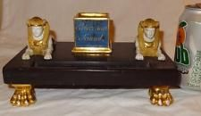 19th Century Vieux French Old PARIS Porcelain EGYPTIAN Revival Sphinx Desk Stand