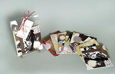 Folding Card Sets with Envelopes blank inside by ArtbyKVK on Etsy, $15.00