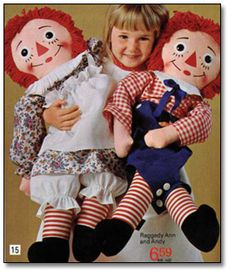 A real handful - Knickerbocker Raggedy Ann and Andy