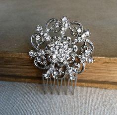 Bridal Hair Comb, Art Deco hair comb, Rhinestone bridal hair accessories, wedding accessory crystal