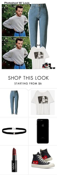 """""""Photoshoot W/ Louis"""" by rosexdagger ❤ liked on Polyvore featuring Amanda Rose Collection, NYX, Converse, OneDirection, 1d, louistomlinson and onedirectionoutfits"""