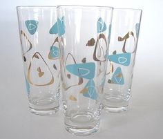 Vintage Atomic Mid-Century Water Glasses