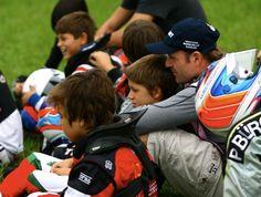 Rubens Barrichello  estreia de seu filho Dudu no kart (Foto: Bruno Terena / Divulgação)