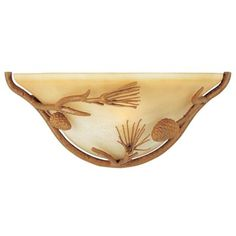 "Pine Grove Collection Pinetree 14"" Pocket  Wall Sconce 