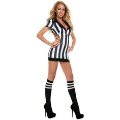 Women's Cut-Out Referee Sexy Costume ($50) ❤ liked on Polyvore featuring costumes, halloween costumes, multicolor, sexy costumes, sexy women costumes, womens snow white costume, adult halloween costumes and party halloween costumes