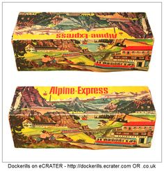 Alpine Express 300, TECHNOFIX, West Germany (Picture 3 of 4). Vintage Tin Litho Tin Plate Toy. Wind-Up / Clockwork Mechanism.