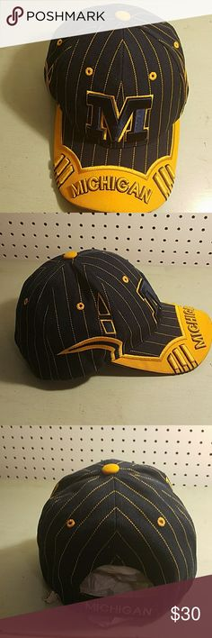 MICHIGAN STATE HAT Beautiful Blue And Gold Hat CITY HUNTER Accessories Hats