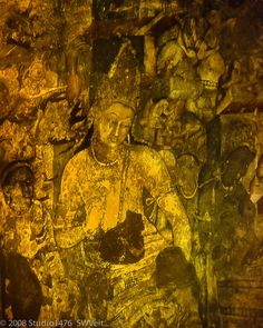 Dancing girl in ajanta fresco showing deterioration for Archaeological monuments in india mural paintings