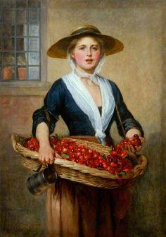 Cherry Ripe by William Frederick Yeames (British 1835-1918)