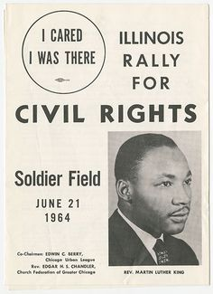 Illinois Rally for Civil Rights program, 1964. Chicago History Museum, ICHi-68214