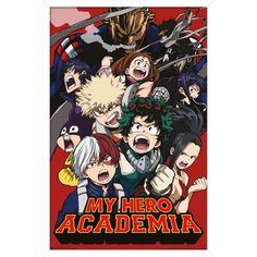 My Hero Academia - Key Art 2 Poster Size: 14.725 inch x 22.375 inch, White
