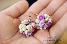 Серьги c цветочками из полимерной глины - Все о полимерной глине.