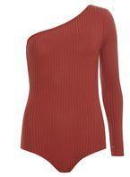 Womens Rust One Shoulder Body- Rust