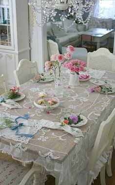Beautiful vintage lace afternoon tea setting how lovely. And of course if you are having tea...you need something delicious to go with it.