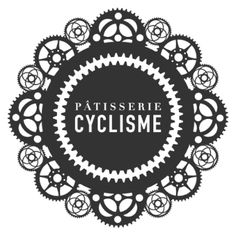Patisserie Cyclisme - bike cafe logo, by Bauholz This is way too crazy, but I like the simple circle with the bike gear around it