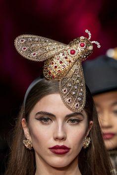 Dolce & Gabbana at Milan Fashion Week Fall 2019 - Details Runway Photos Steampunk Top Hat, Milan Fashion Weeks, Runway, Fall, Photos, Collection, Jewelry, Cat Walk, Autumn