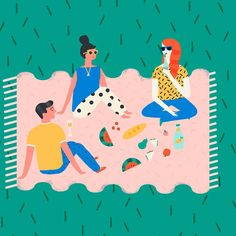 Picnic #illustration #naomiwilkinson #picnic #summer #design #wip