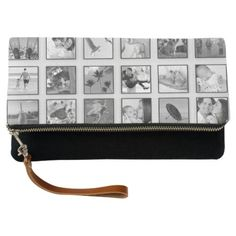 Black and White Filtered Photo Collage Clutch