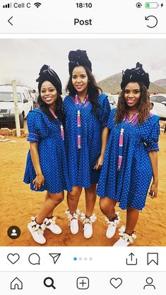 Pedi Traditional Attire, Sepedi Traditional Dresses, South African Traditional Dresses, African Bridesmaid Dresses, African Wear Dresses, African Attire, Xhosa Attire, Shweshwe Dresses, Curvy Girl Outfits