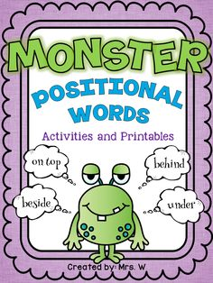 Positional Words FREEBIE!
