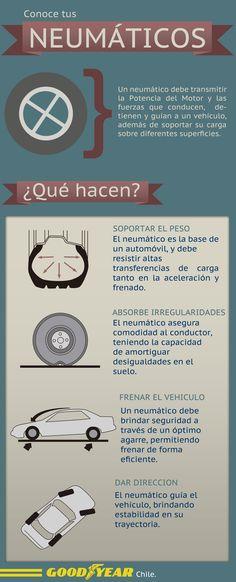 Los neumáticos en la seguridad del vehículo.
