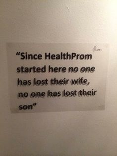 """Since HealthProm started here no one has lost their wide, no one has lost their son"" #Afghanistan"
