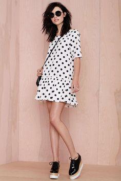 Get Dropped Polka Dot Dress