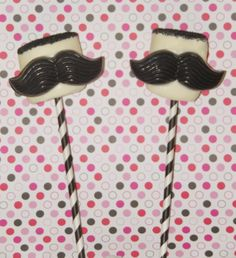 Jumbo Chocolate Dipped Marshmallow Pops Chocolate Moustache