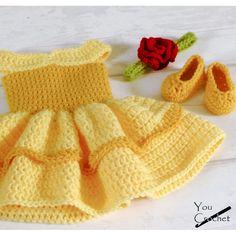 Crochet Baby Dress Pattern, Baby Girl Crochet, Crochet Baby Clothes, Crochet Patterns, Crochet Baby Dresses, Dress Patterns, Crochet Toddler Dress, Crochet Doll Dress, Coat Patterns