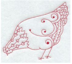 embroidered roosters and chickens | chicken embroidery